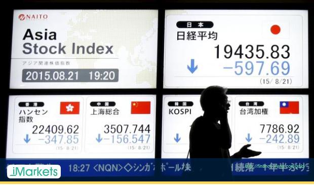 亚洲股市下挫 中国股市加速下跌而日圆反弹