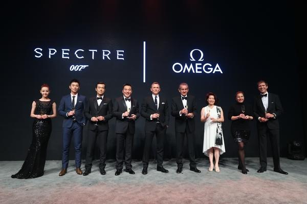 【新珠宝】欧米茄携手丹尼尔克雷格庆祝《007:幽灵党》盛大上映
