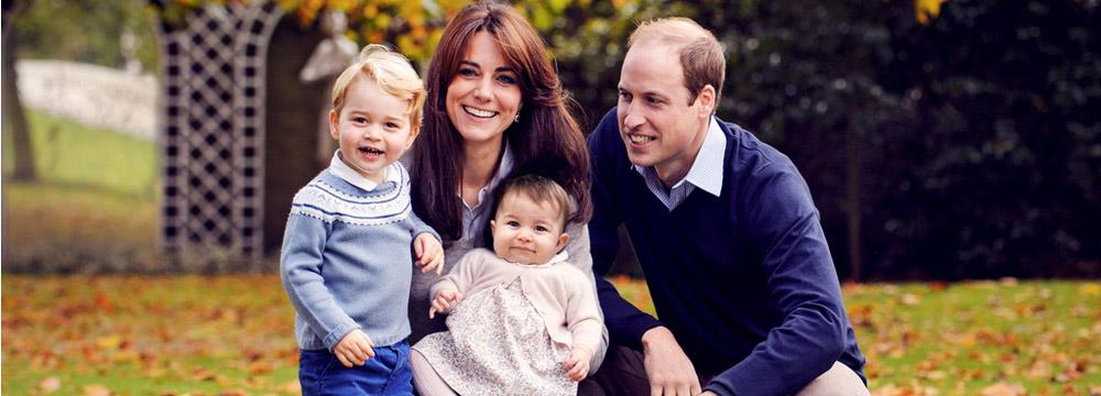 英国王室圣诞祝福 威廉凯特携儿女出镜