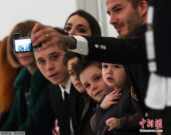 """[明星爆料]""""十大最会穿""""型男榜发布 贝克汉姆与小儿子入选"""