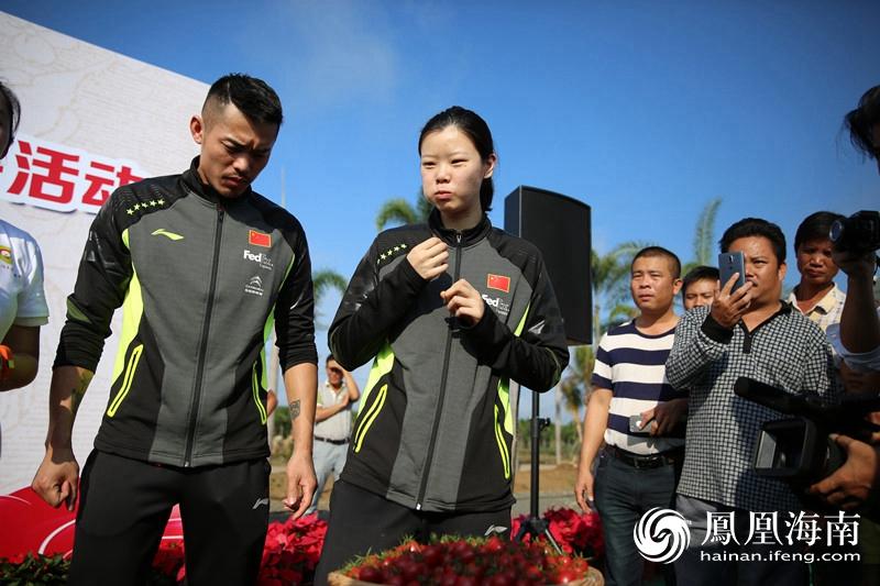 国家羽毛球队助阵陵水第二届圣女果采摘季活动