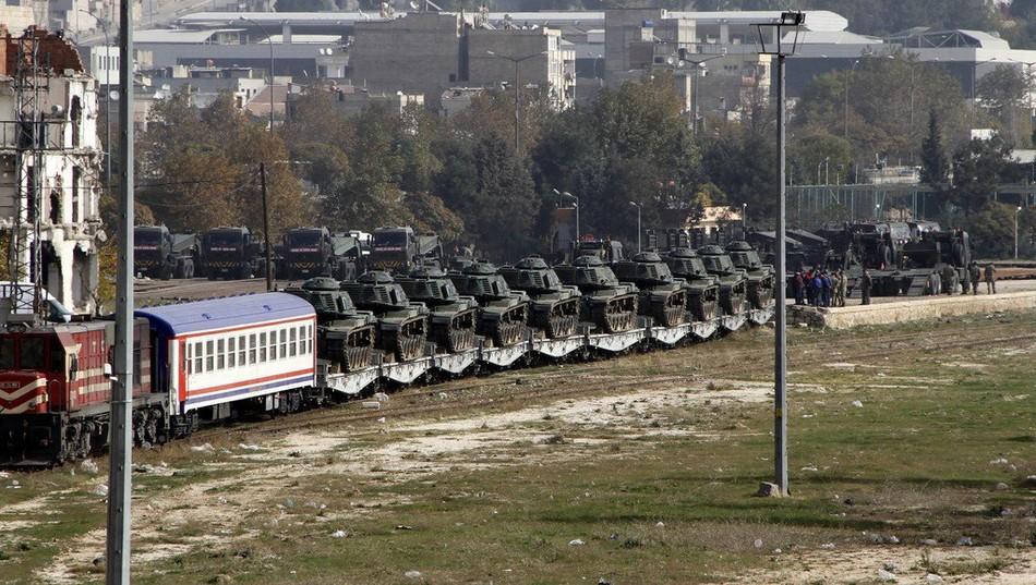 俄媒:土耳其大军开进叙利亚境内 IS武装围观(图)