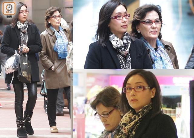 [明星爆料]42岁杨恭如身材瘦保养好 与母亲低调逛街(图)