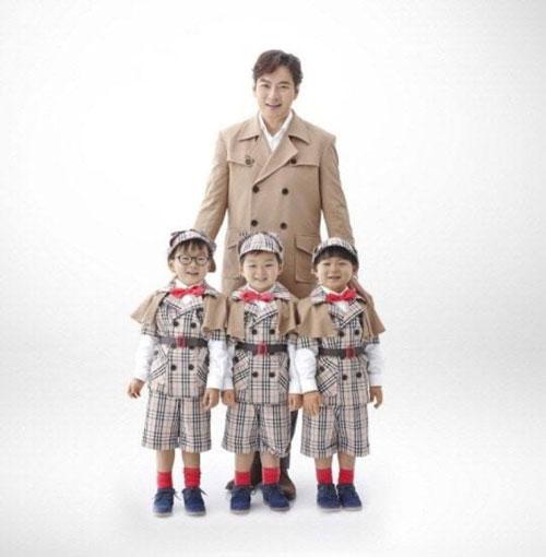 [明星爆料]国民萌宝!宋一国三胞胎续约果汁广告