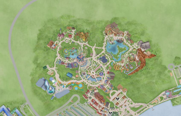 旅游  上海迪士尼度假区地图 首先你要知道,它有哪些地方可以玩.
