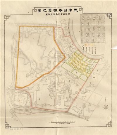 """老地图揭示天津""""日租界""""扩张"""