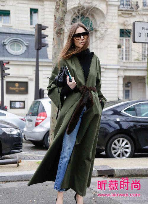军绿色外套如何搭配?欧美风帅气示范