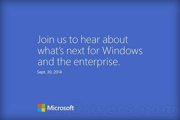 微软宣布9月30日举办发布会:Win9将至