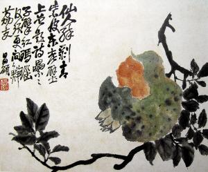 大写意花鸟画家吴昌硕图片