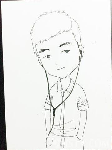 南京大四女生手绘新人q版漫画 生意火爆(图)
