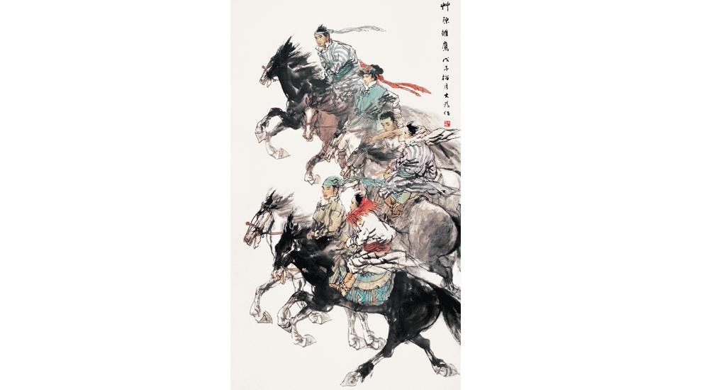 刘大为《草原雏鹰》247cmx124cm 2008年