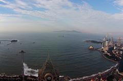 上帝视角俯拍前海一线 美哉大青岛