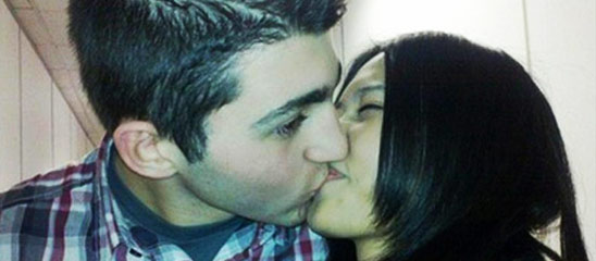 网曝快男左立女友与外籍男接吻照
