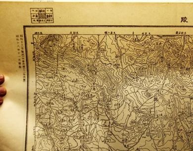 神秘日军侵华军事地图亮相郑州