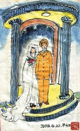 为悼亡妻九旬老人手绘漫画 称永恒爱情存在