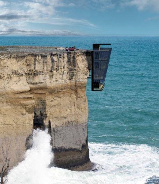 把五层房子建在峭壁上还有电梯 这房子谁敢买?(图) - 大漠胡杨 - 大漠胡杨的博客
