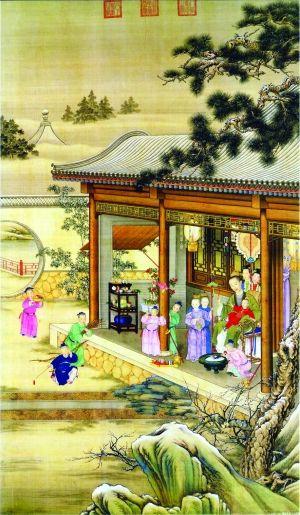 春节情景简笔画