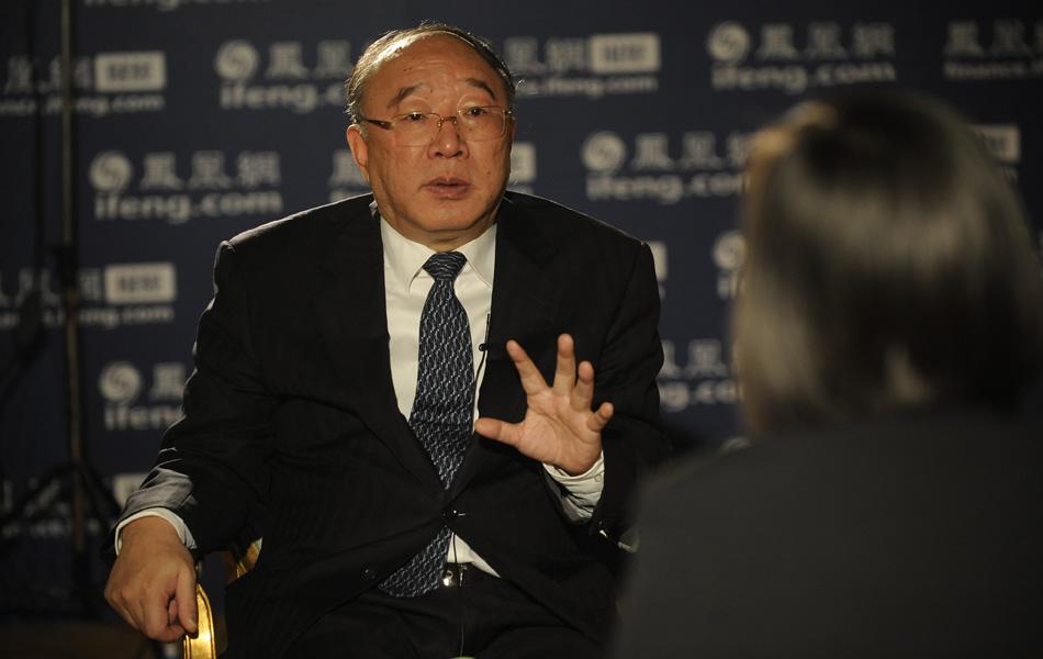 2012年2月28日,重庆市长黄奇帆在北京接受凤凰网访谈。