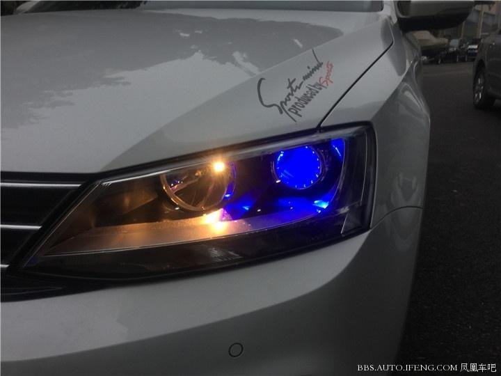 福州汽车大灯改装大众速腾大灯改装氙气灯g1双光透镜