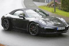 保时捷911 GTS敞篷版谍照 将于年底发布