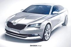 斯柯达全新速派设计图 明年2月首发