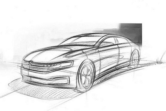 雪铁龙c6手绘设计图 实车4月亮相_凤凰网汽车_凤凰网