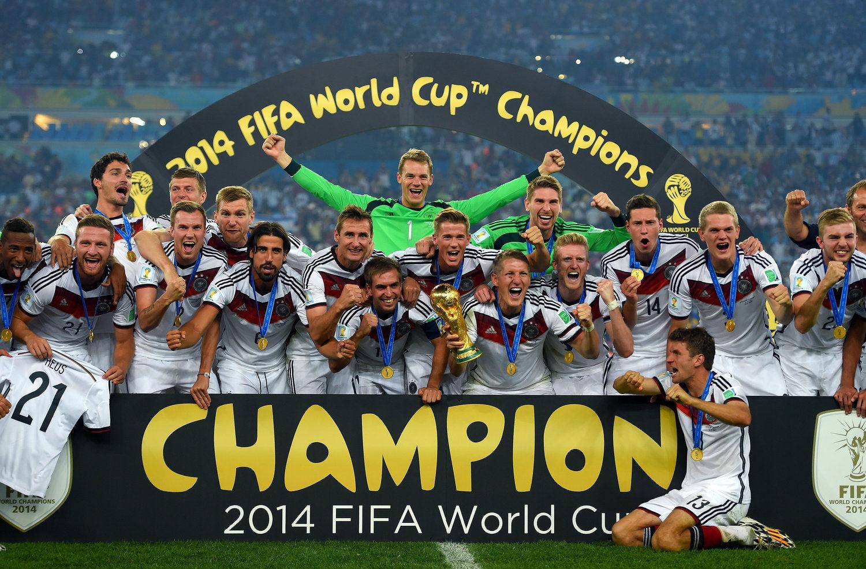 2014年7月14日,巴西里约热内卢马拉卡纳球场,2014世界杯冠军颁奖仪式。