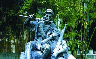 """广东雕塑家潘鹤:我做雕塑是""""有话要说"""""""
