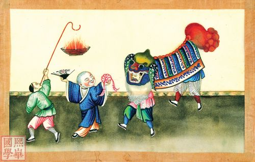 通草画 200年前的广州明信片