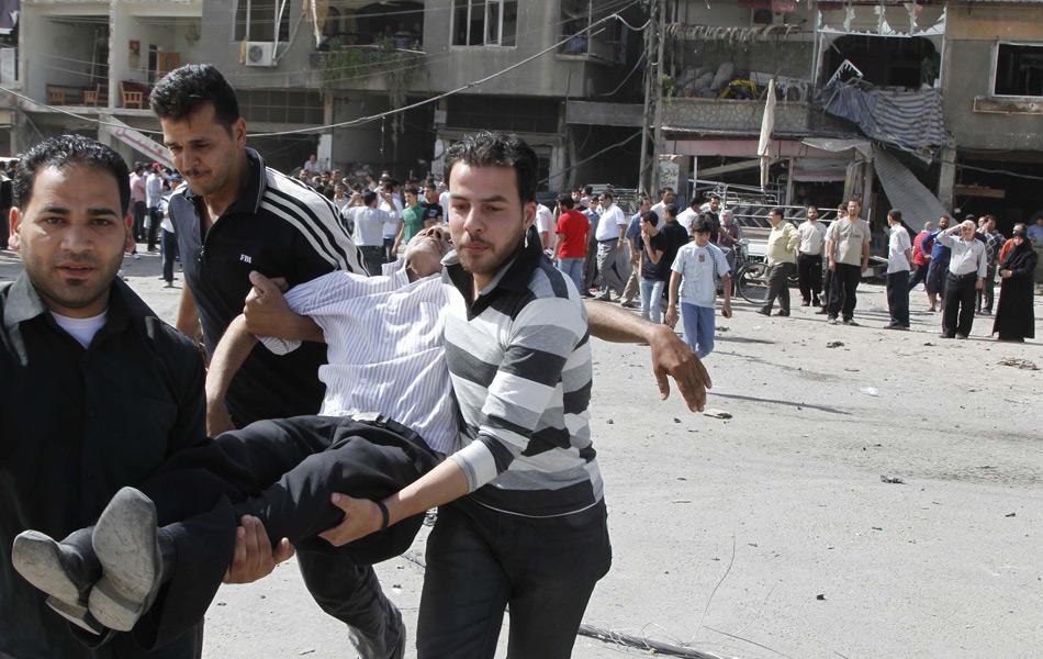 现场 大马士革/叙利亚首都大马士革10日交通早高峰时段遭遇连环爆炸。...
