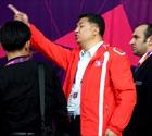 朝鲜女足遭挂韩国旗