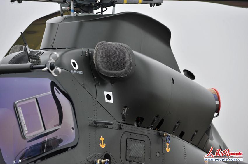 近距离感受国产武直-19直升机 座舱内设施先进