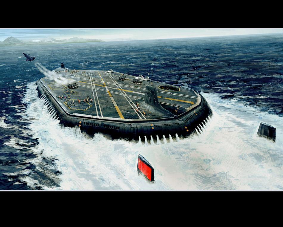 首届航母设计大赛作品亮相核动力水下航母抢眼_军事频道_凤凰网