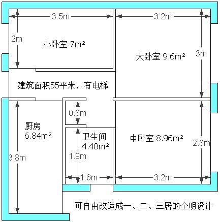 96平米自建房设计图