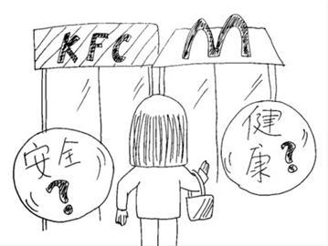 午饭简笔画-让孩子有 放心午餐