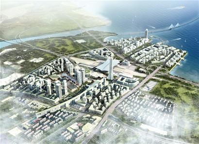 科教创业中心规划在沧口飞机场搬迁后,建设以科技教育,创意研发,都市