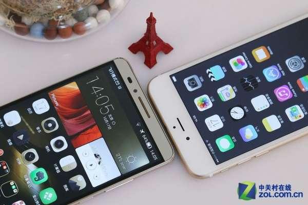 大屏旗舰手机对决 华为Mate7比拼苹果6 Plus