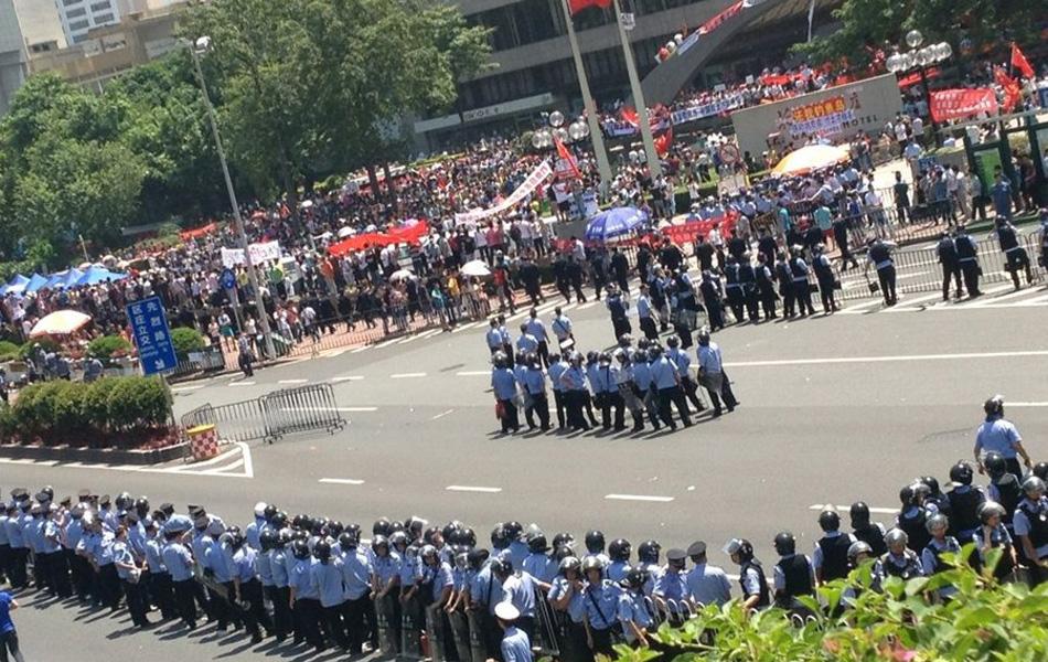 9月16日,广州,反日游行现场。