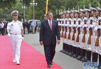 美国国防部长帕内塔访问北海舰队
