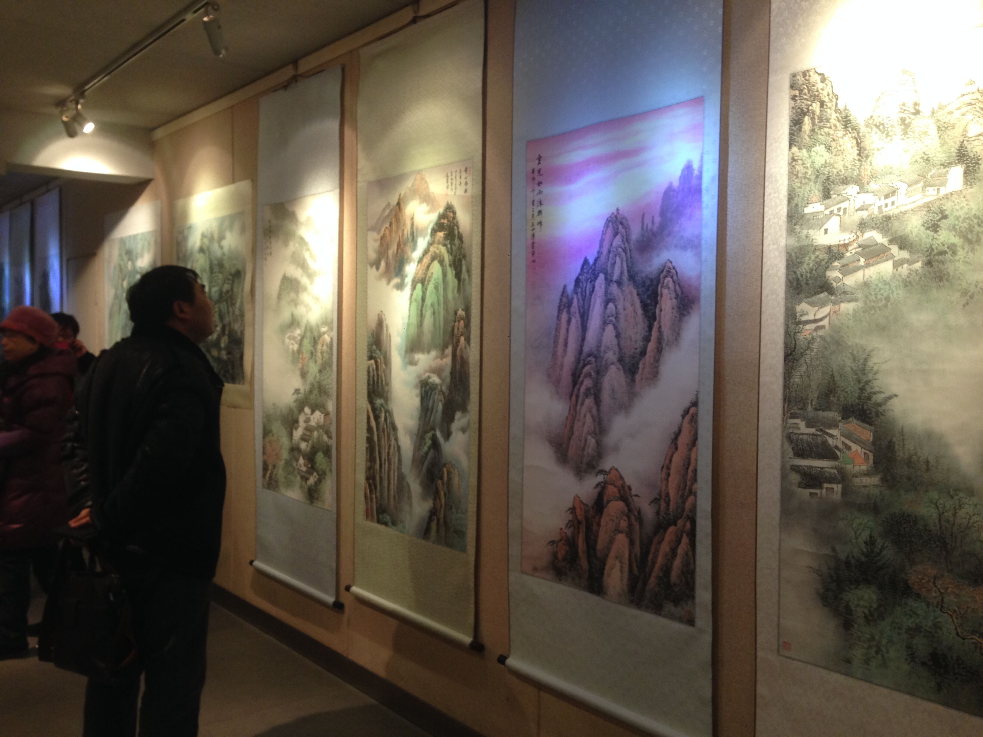 画展现场-王四清作品安徽画廊展出