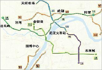 武汉轨道交通规划出台 主新城区将分别再增5条轨道线