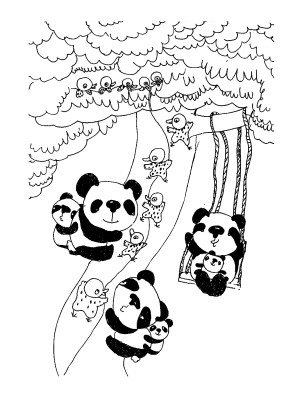 熊猫来到小鸟家
