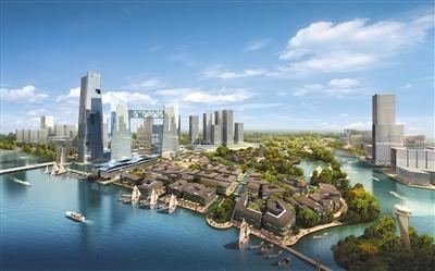 通州新城规划效果图.北京市政府一直大力扶持通州新城的建设.资料图片