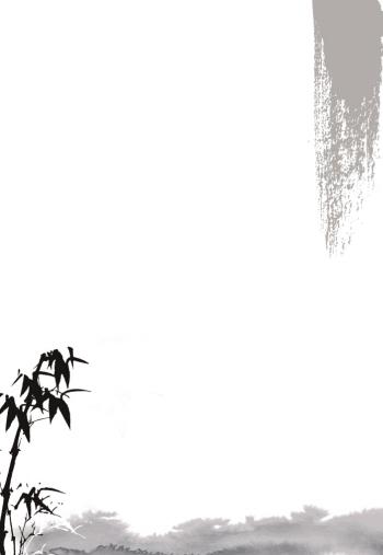 ppt 背景 背景图片 边框 国画 模板 设计 相框 350_507 竖版 竖屏