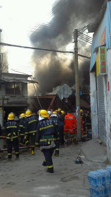 广州今3个小时内连发两起火灾 无人员伤亡