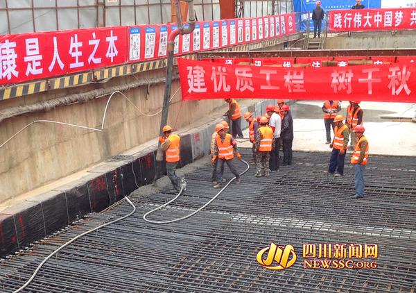 成都地铁3号线省文联站封顶 春节前还道与民