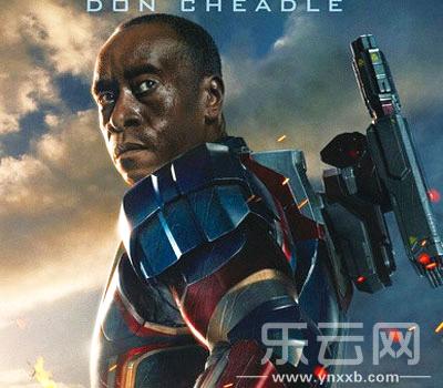 """唐·钱德尔在《钢铁侠3》中的""""战争机器""""扮相.-唐 钱德尔加盟复联2"""