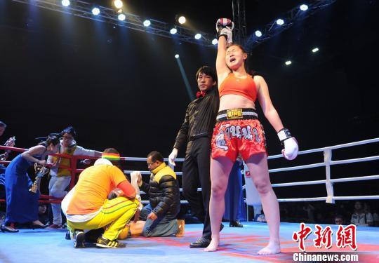 中国女拳王沈舒因获胜喜极而泣