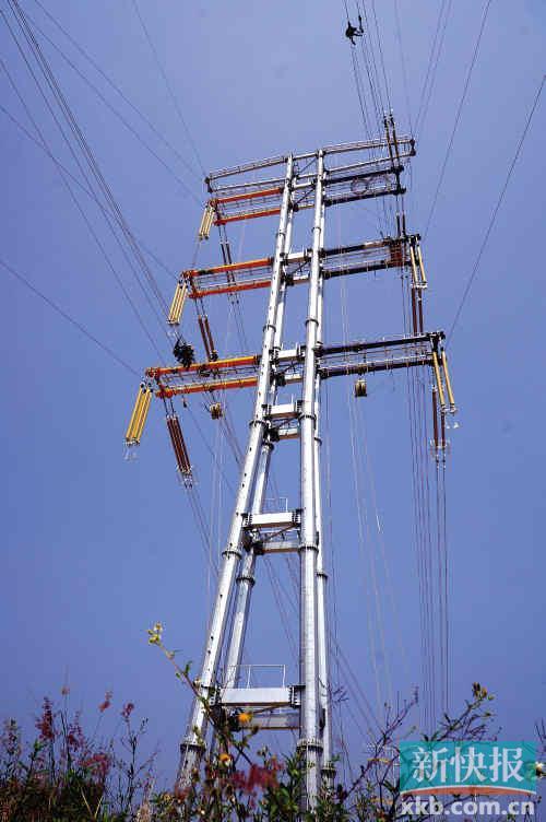 简易电路杆塔图片