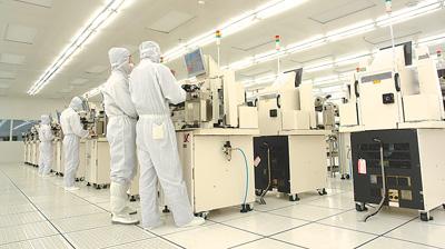 宇芯(成都)集成电路封装测试有限公司的生产现场.